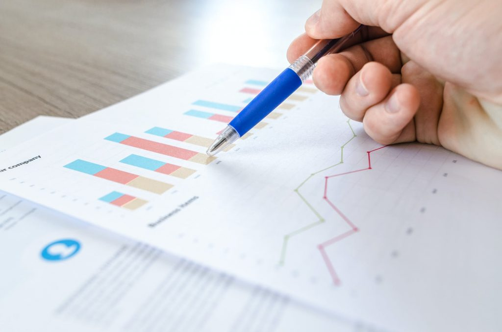 image of a person analysing data as part of conversion rate optimisation